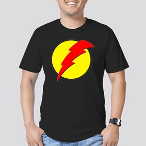 A Red Lightning Bolt Men's Fitted T-Shirt (dark)