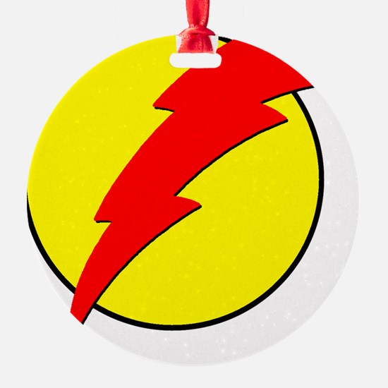 A Red Lightning Bolt Ornament