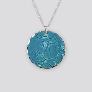 Astrocyte nerve cells Necklace Circle Charm