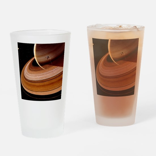 Artwork showing Voyager 2 approachi Drinking Glass