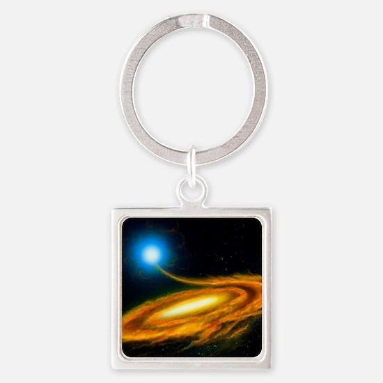 Artwork: binary star system contai Square Keychain