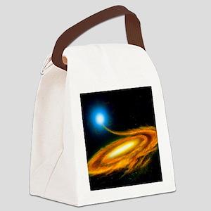Artwork: binary star system conta Canvas Lunch Bag