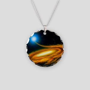 Artwork: binary star system  Necklace Circle Charm