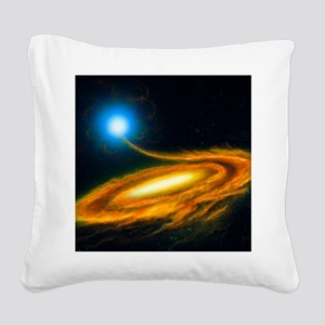 Artwork: binary star system c Square Canvas Pillow