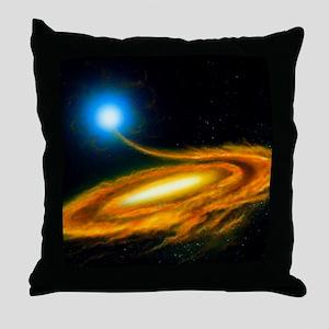 Artwork: binary star system containin Throw Pillow