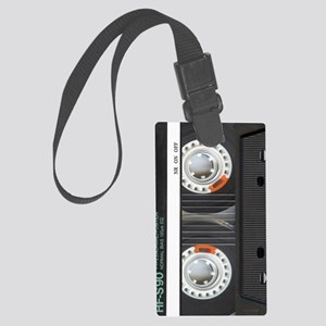 Retro Cassette Tape Large Luggage Tag