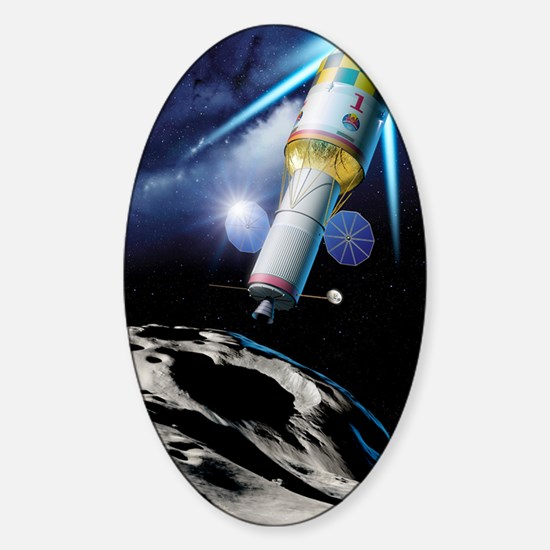 Asteroid gravitational tractor Sticker (Oval)