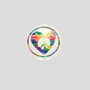 Peace Heart Rainbow C Mini Button