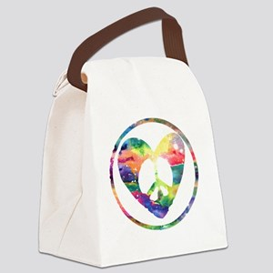 Peace Heart Rainbow C Canvas Lunch Bag