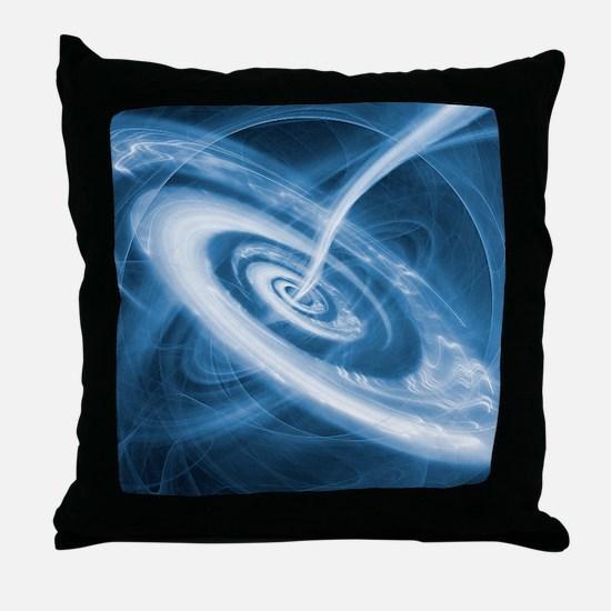 Black hole Throw Pillow