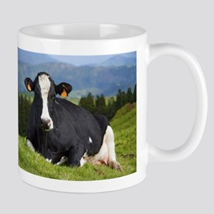Holstein cow Travel Mugs