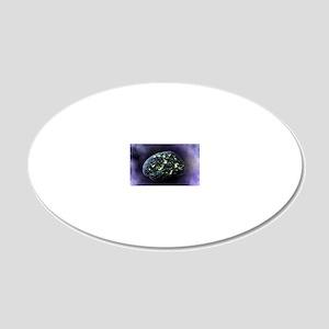 Brain activity, computer art 20x12 Oval Wall Decal