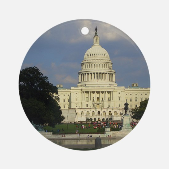 The White House Round Ornament