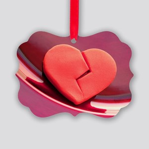 Broken heart Picture Ornament