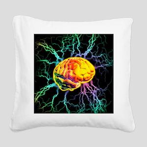 Brain activity Square Canvas Pillow