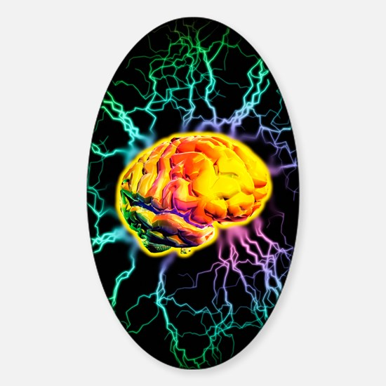Brain activity Sticker (Oval)