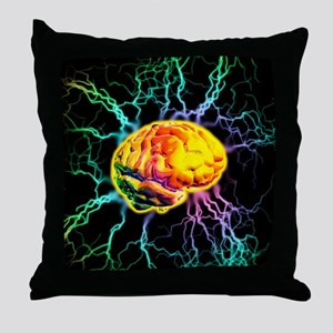 Brain activity Throw Pillow