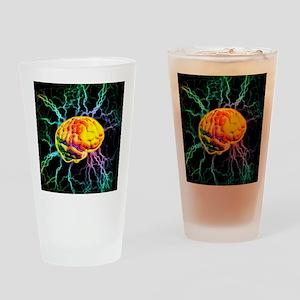 Brain activity Drinking Glass