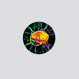 Brain activity Mini Button
