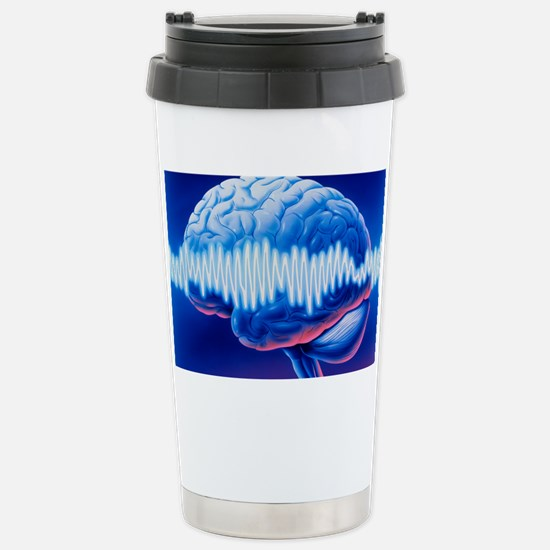Brainwaves Stainless Steel Travel Mug