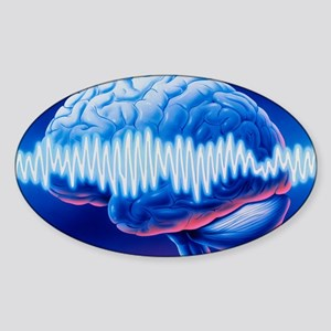 Brainwaves Sticker (Oval)