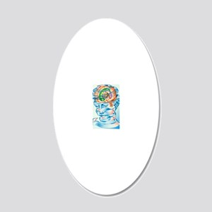 Brain limbic system 20x12 Oval Wall Decal