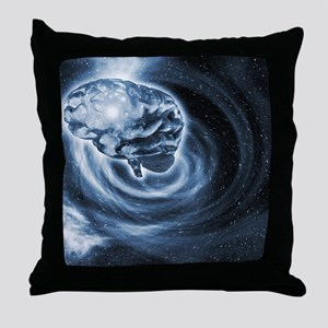 Brain in space Throw Pillow