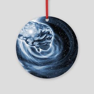 Brain in space Round Ornament