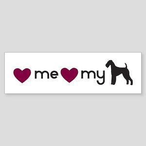 Love My Airedale Bumper Sticker