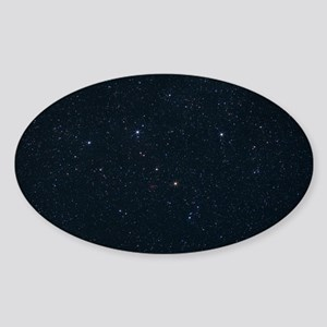 Cassiopeia constellation Sticker (Oval)