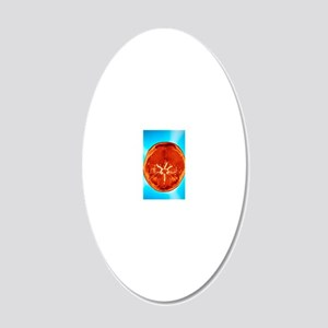 Brain and arteries, coloured 20x12 Oval Wall Decal