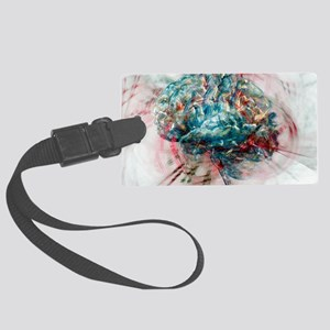 Brain, abstract image Large Luggage Tag