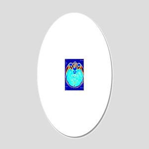 Brain scan, MRI scan 20x12 Oval Wall Decal