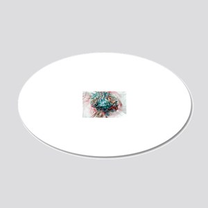 Brain, abstract image 20x12 Oval Wall Decal