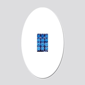 Brain scans, MRI scans 20x12 Oval Wall Decal