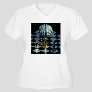 Brainpower Women's Plus Size V-Neck T-Shirt