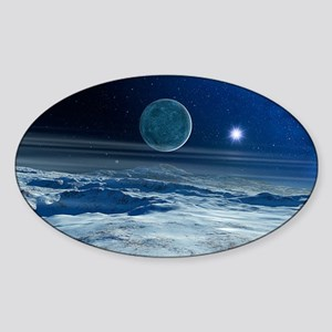Charon from Pluto Sticker (Oval)