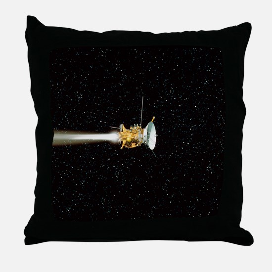 Cassini spacecraft Throw Pillow