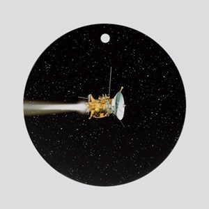 Cassini spacecraft Round Ornament