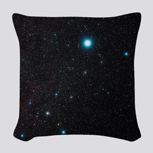 Canis Major constellation Woven Throw Pillow