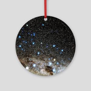 Centaurus and Crux constellations Round Ornament