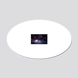 Central Milky Way in constel 20x12 Oval Wall Decal
