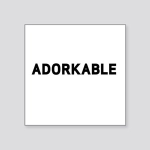 "Adorkable Square Sticker 3"" x 3"""
