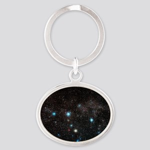Cassiopeia constellation Oval Keychain