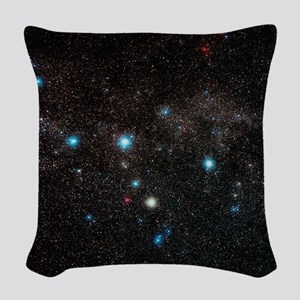 Cassiopeia constellation Woven Throw Pillow