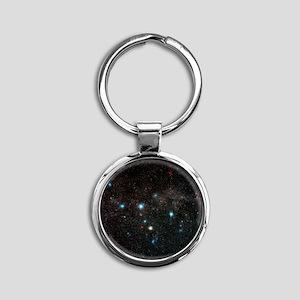 Cassiopeia constellation Round Keychain