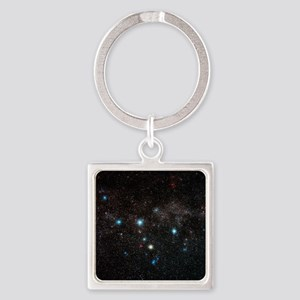 Cassiopeia constellation Square Keychain