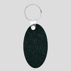 Cassiopeia constellation Aluminum Oval Keychain