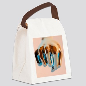 Clenched fist, computer artwork Canvas Lunch Bag