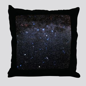 Cassiopeia and Andromeda constellatio Throw Pillow